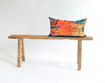 Orange Lumbar Pillow/Teal/Lumbar Pillow Cover/Teal Pillow/Custom Size/Handmade/Eclectic/ZigZag Studio Design