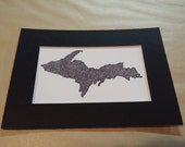 Upper Michigan UP Drawing Reproduction Matted to 5x7 Print