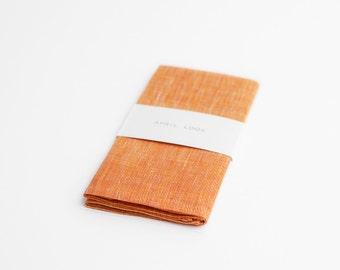 Peach pocket square for men