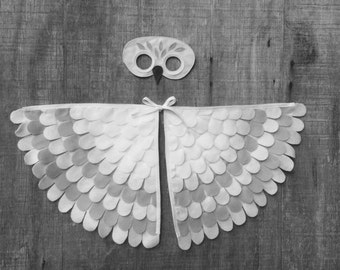 Magical Snowy Owl // Hedwig inspired Costume // Mask and Wings