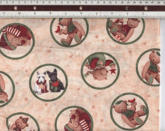 Christmas Bear - Fat Quarter FQ - 100% Cotton Fabric