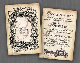 Rustic Royal Princess Birthday Party Invitation // Digital or Printed (FREE SHIPPING!)