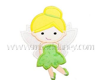 On Sale Green Tinker Fairy Applique Design