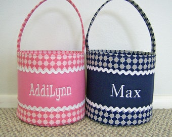 Personalized Easter or Halloween Basket-More Colors