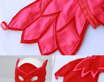 Owlette Wings and Mask - Felt wings and Mask owlette - Owl felt wings - Owlette Costume - Owlette Birthday