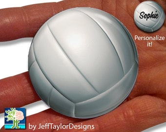 "Volleyball 2 1/4"" Pocket Mirror"