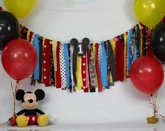 Mickey Mouse Themed Birthday Banner