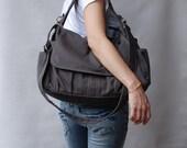 Mother's Day SALE 30% Off + Mysterious Gift - Pico in Dark Grey (Water Resistant) School Bag / Shoulder Bag / Messenger Bag / Diaper Bag