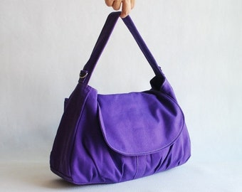 CHRISTMAS in July 30% - Father's Day SALE 30 Percent Off + Mysterious Gift - Fortuner in Purple (Water Resistant) Messenger Bag / Handbag /