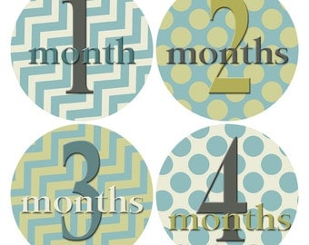 Baby Sticker, Infant Age Stickers, Polka Dot Stickers, Baby Age Sticker, Baby Month Stickers, Chevron Stickers, Baby Photo Prop (631)