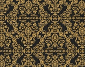 Robert Kaufman's Black Singer Damask w/Metallic #AGZM156462-Available Now!