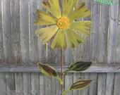 Wild Flower Garden Stake, Metal Garden Art, Painted Flower Yard Stake, Metal Yard Art, Metal Flower Yard Stake, Metal Flower on Stake