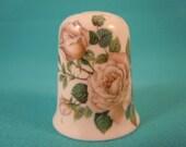 Thimble Bone China with White Roses