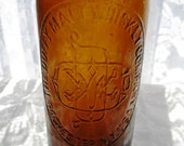 Antique Duffy Malt Whiskey Amber Bottle Rochester New York 'PAT. AUG. 24 86.'