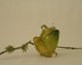 Mid-Century Murano ARCHIMEDE SEGUSO Glass Figurine FROG