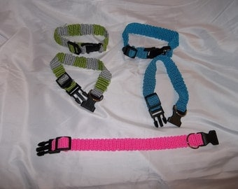 Crocheted Pet Collars