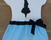 Alice inspired baby girl outfit Alice in Wonderland