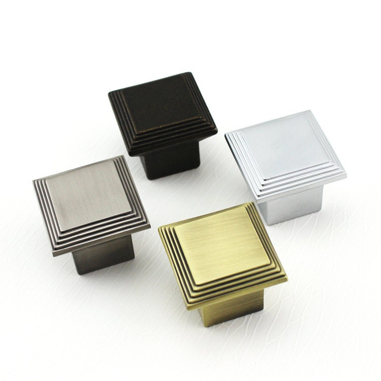 Square knob cabinet knob dresser knobs kitchen cabinet pull for Square kitchen cabinet knobs