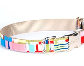 Crew LaLa™ Multi Madras Dog Collar