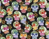 Custom Order for Tia, 1/4 Yard Sugar Skull Fabric, Alexander Henry Mini Calaveras Fabric, Day of the Dead, Dia de los Muertos, Candy Skulls
