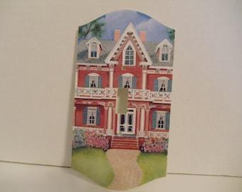 Victorian Bay Art Print on Single Light  Switch Cover