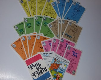 Vintage paper supplies  fun in flight United Airlines card deck NOS unopened 27 colorful playing cards kids games ephemera