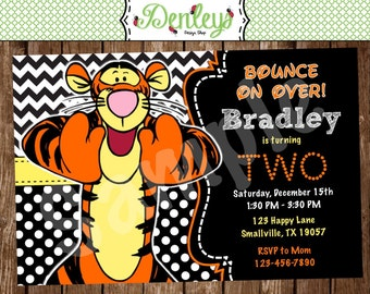 Tigger Birthday Invitation (TI01)