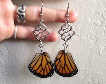 Real Monarch Butterfly Wing Earrings - Monarch Butterfly Wing Jewelry