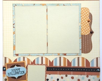 Happy Halloween Premade 1 Page 12x12 Scrapbook Layout