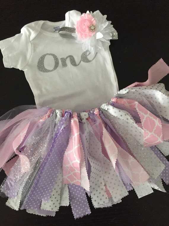 Fabric tutu outfit pink and purple birthday outfit shabby - Shabby chic outfit ideas ...