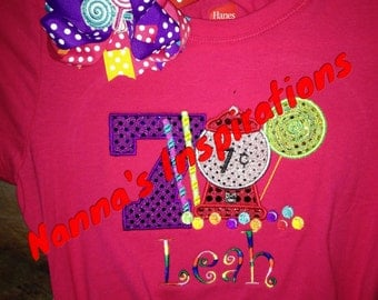 Candyland Birthday shirt/Onsie with Bow