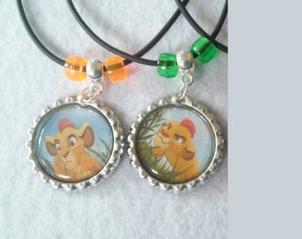10 Lion Guard Necklaces Party favors.