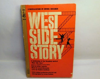 Vintage WEST SIDE STORY Pocket Book - 1960's - Irving Shulman - Musical - Collectible Literature - Paperback