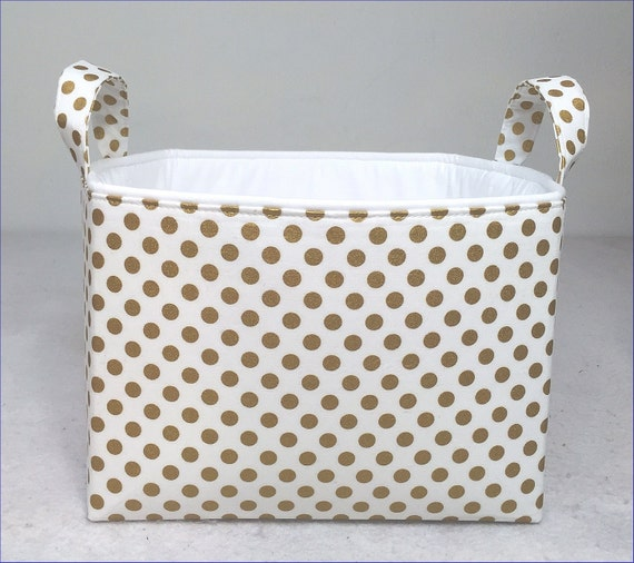 Items Similar To Metallic Gold Fabric Storage Bin 10 Quot X10