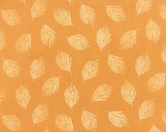 Mustard Gold Leaf Fabric - Valley by Sherri Chelsi by Moda - 1/2 Yard