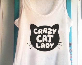 Crazy cat lady -  Tank Top Sleeveless t-shirt