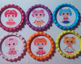 lala loopsy inspired bottle cap necklace party favor