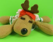 Vintage Hallmark Rhonda Reindeer Plush Rodney's Girfriend Christmas Beanie Retro 80's Xmas Holiday Decor Decoration Kawaii