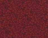 on SALE thru 8/1 moda fabric by 1/2 yard 9419-16 Kansas Troubles Quilters Favorites II- dark red  floral tone on tone