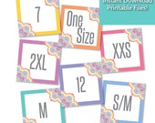LuLaRoe 8x8 SQUARE Size Cards / Signs - Approved Colors & Fonts - INSTANT DOWNLOAD - Mandala / Flower / Floral Design