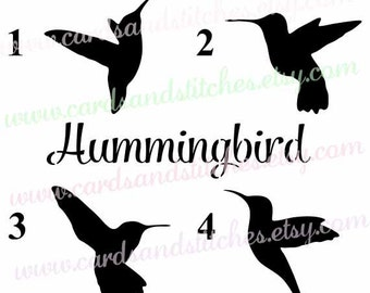 Hummingbird Stencil - Bird Stencil - Art Stencil - Reusable Stencil - Stencils - Craft Stencil - Great for Walls, Clothes, and Wood