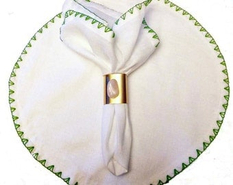 Blanket Stitch Circle Placemat  (set of 4)