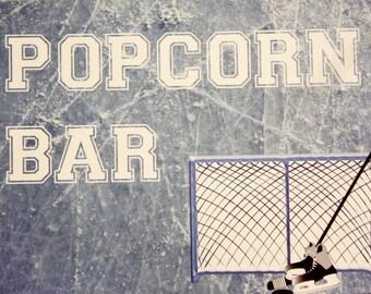 Hockey, Sports Theme, Birthday Party Decor Sign