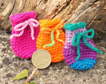 US Crochet Pattern for Tooth Fairy Bag