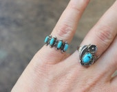 Turquiose Band / Fred Harvey Era Stacking Ring Size 5 / Vintage Southwest Tourist Jewelry