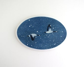 Flying Geese Oval Painting