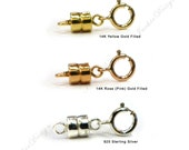 14K Gold Filled Rose Gold Filled Sterling Silver Magnetic Clasps Necklace Converter JD01MIX1