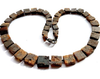 Raw Dark NATURAL BALTIC AMBER Adult Necklace