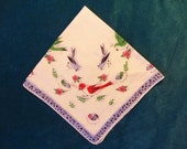 Beautiful vintaghe Hanky with Birds