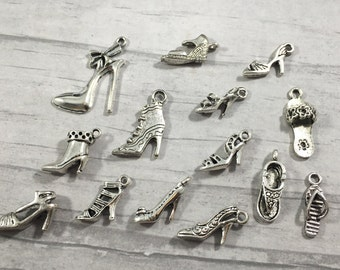 Shoe Charm collection, Shoe Charm Bracelet, Shoe Add on charm, High Heel Shoe Collection, Sandal Charm, Shoe Collector Charm, Shoe Collector